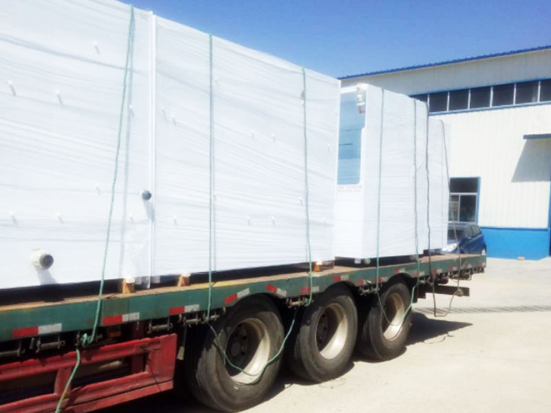 Customer 14 washing machine equipment has been loaded and shipped
